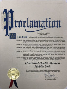 Heart and Health Medical Mobile Unit Recognition of Excellence